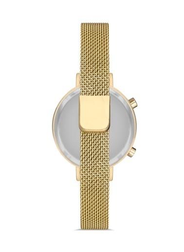 Madamra Dijital Hasır Kordon Kol Saati Altın